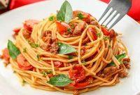 طرز تهیه اسپاگتی